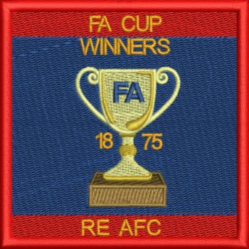 RE AFC - FA Cup Winners Embroidered Badge